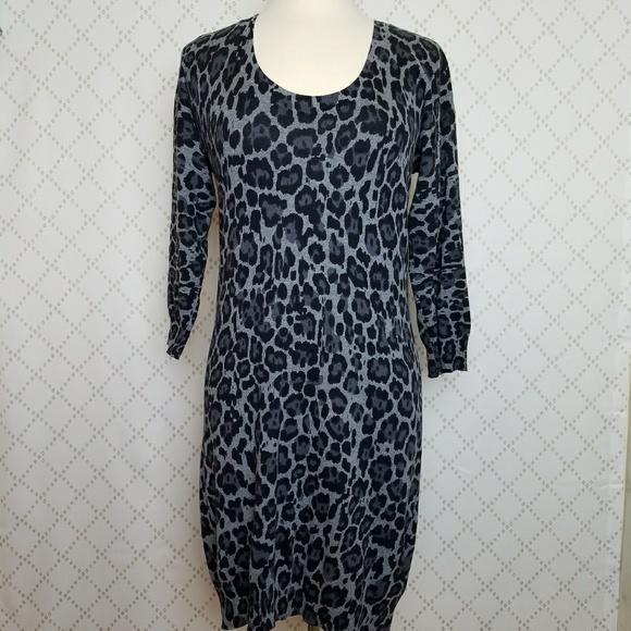 38c6de0382 Banana Republic Dresses   Skirts - BANANA REPUBLIC Animal Print Sweater  Dress